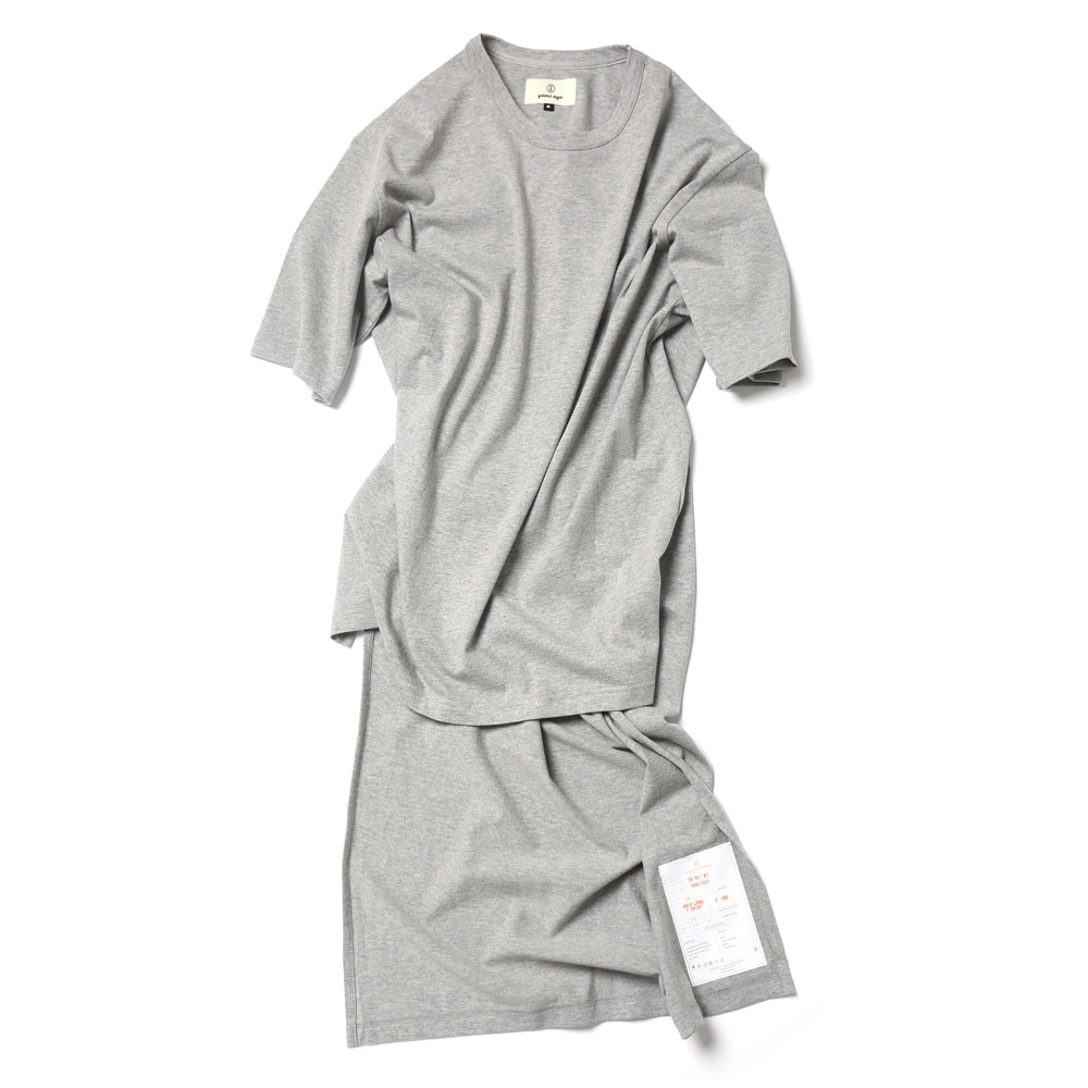 Melange Grey / Half Long Cut Off T-shirts