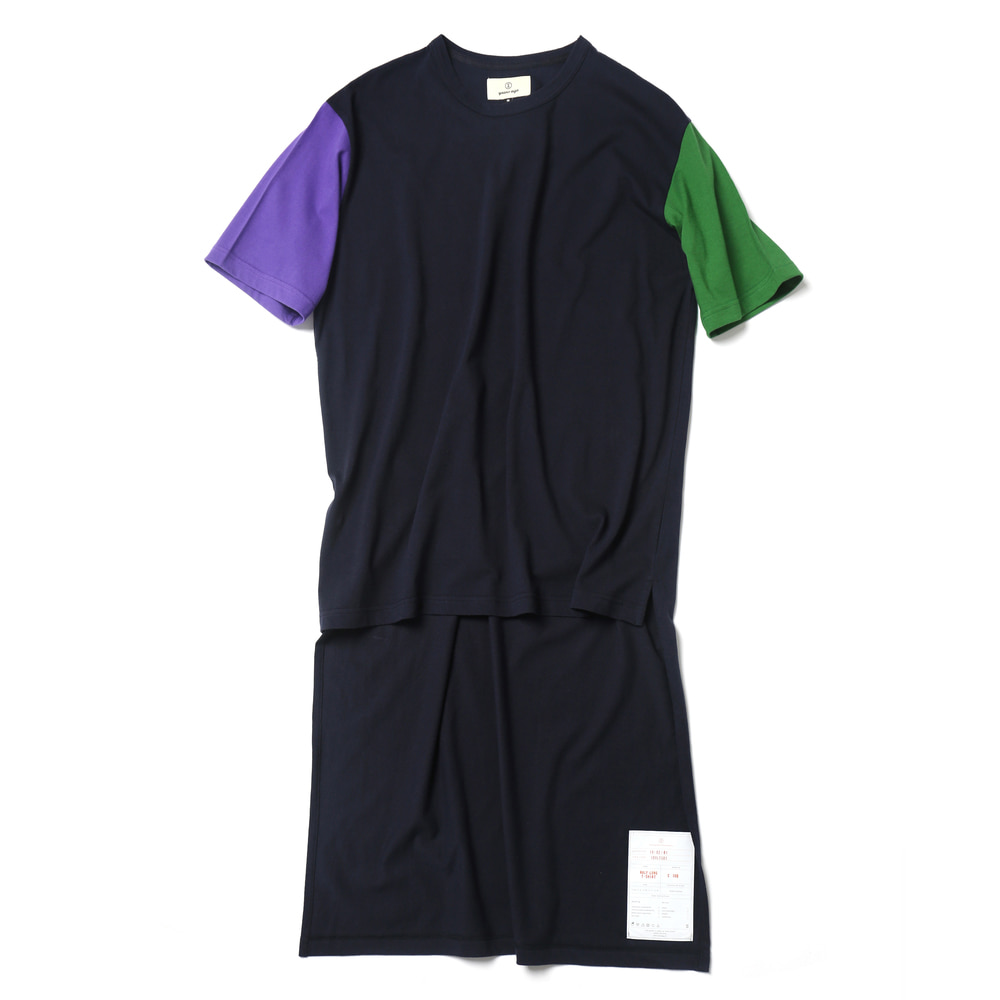 Dark Navy / Half Long Cut Off T-shirts