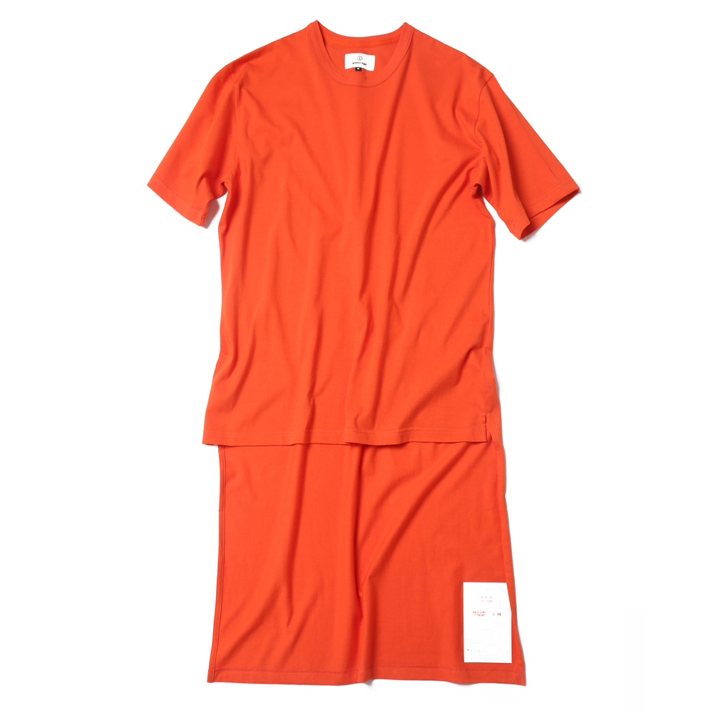 Reddish Orange / Half Long Cut Off T-shirts