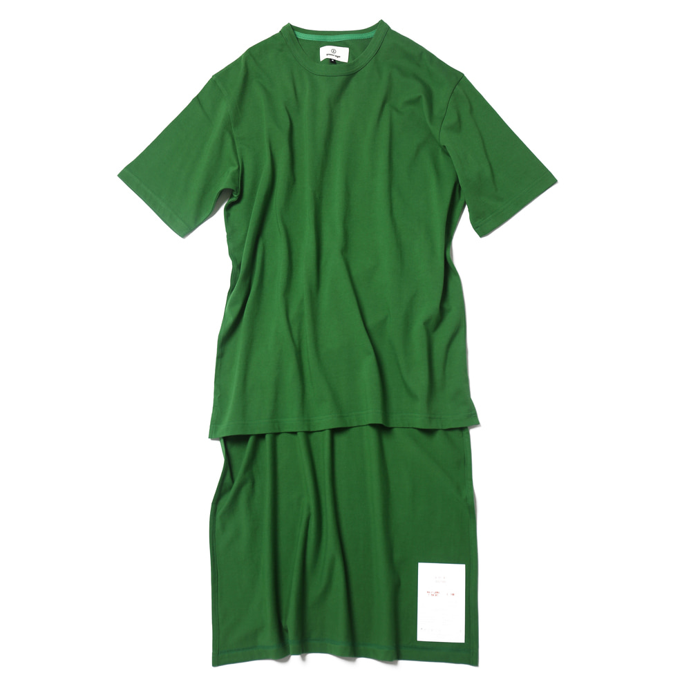 Grass Green / Half Long Cut Off T-shirts