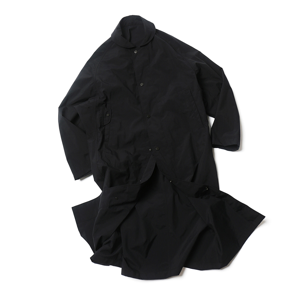 Black Double Faced Rain Coat