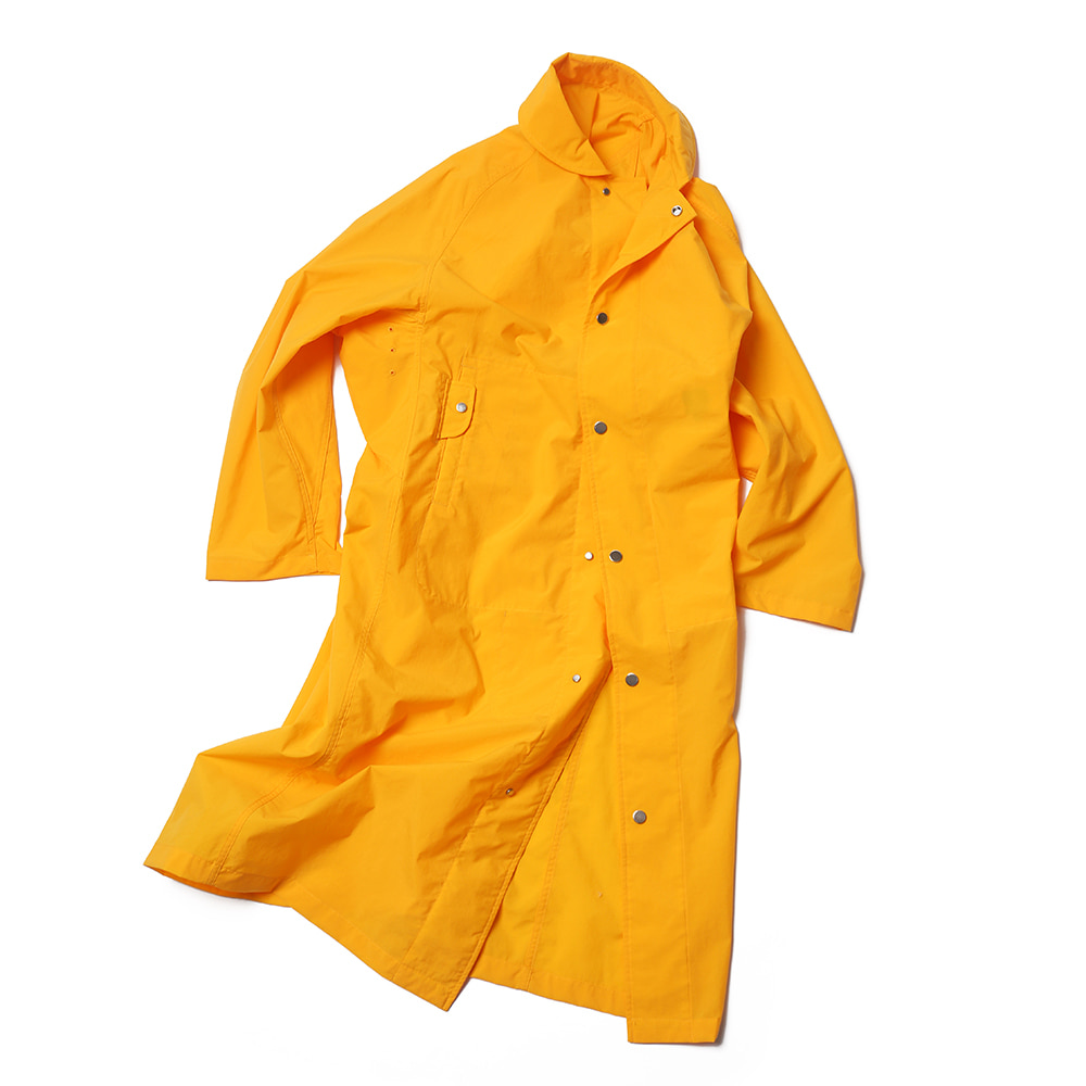 Tangerine Yellow Double Faced Rain Coat