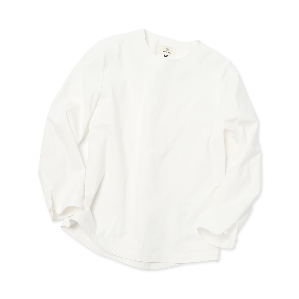 White Easygoing Long Woven Shirts 02