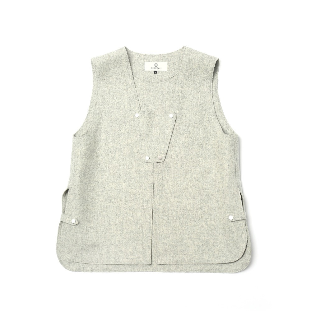 Pale Grey Adjustable Vest 02