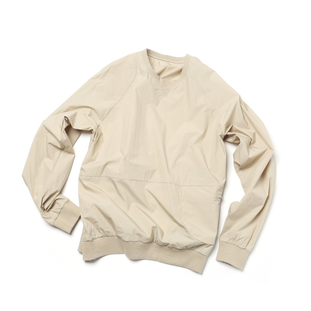 Sand Beige Packable Sweatshrits
