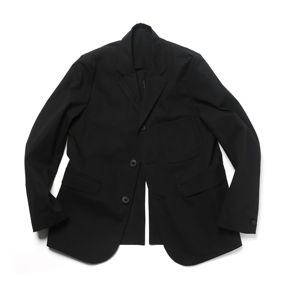 Black Cotton Adjustable blazer 04