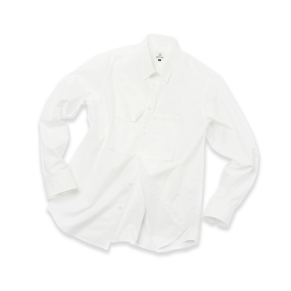White Detachable Cover Pocket Shirts