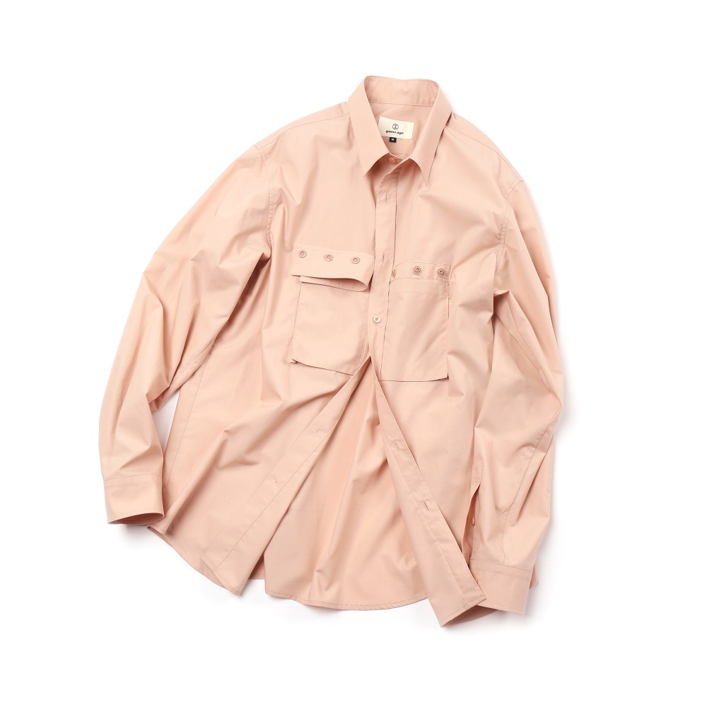 Indi Pink Detachable Cover Pocket Shirts