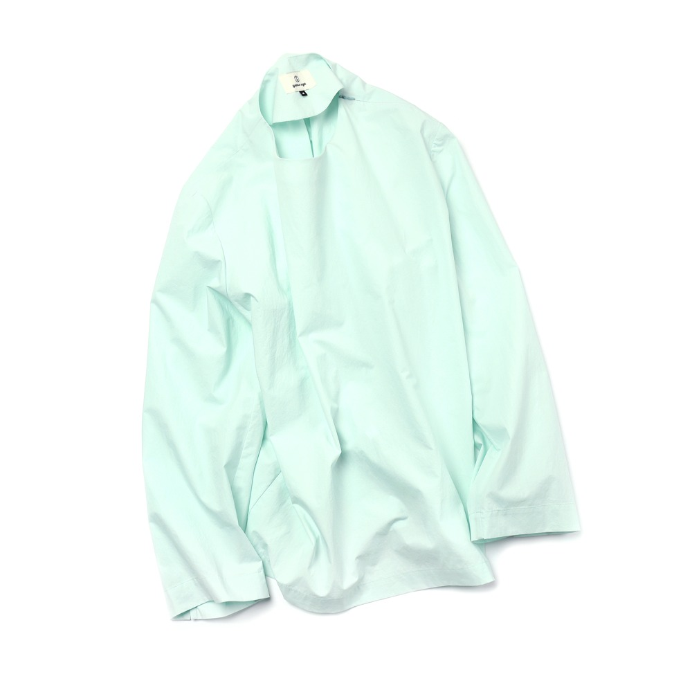 Emerald Blue Easygoing Long Woven Shirts 03