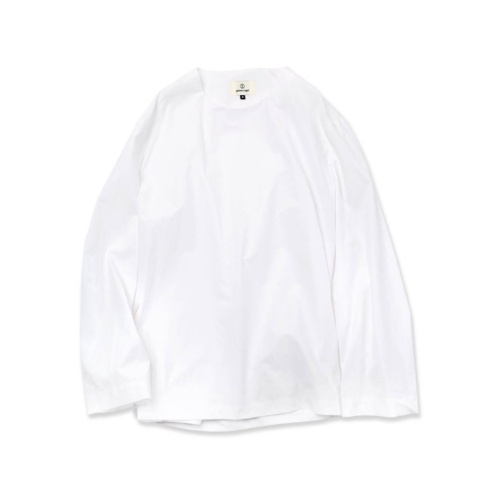 White Easygoing Long Woven Shirts 03