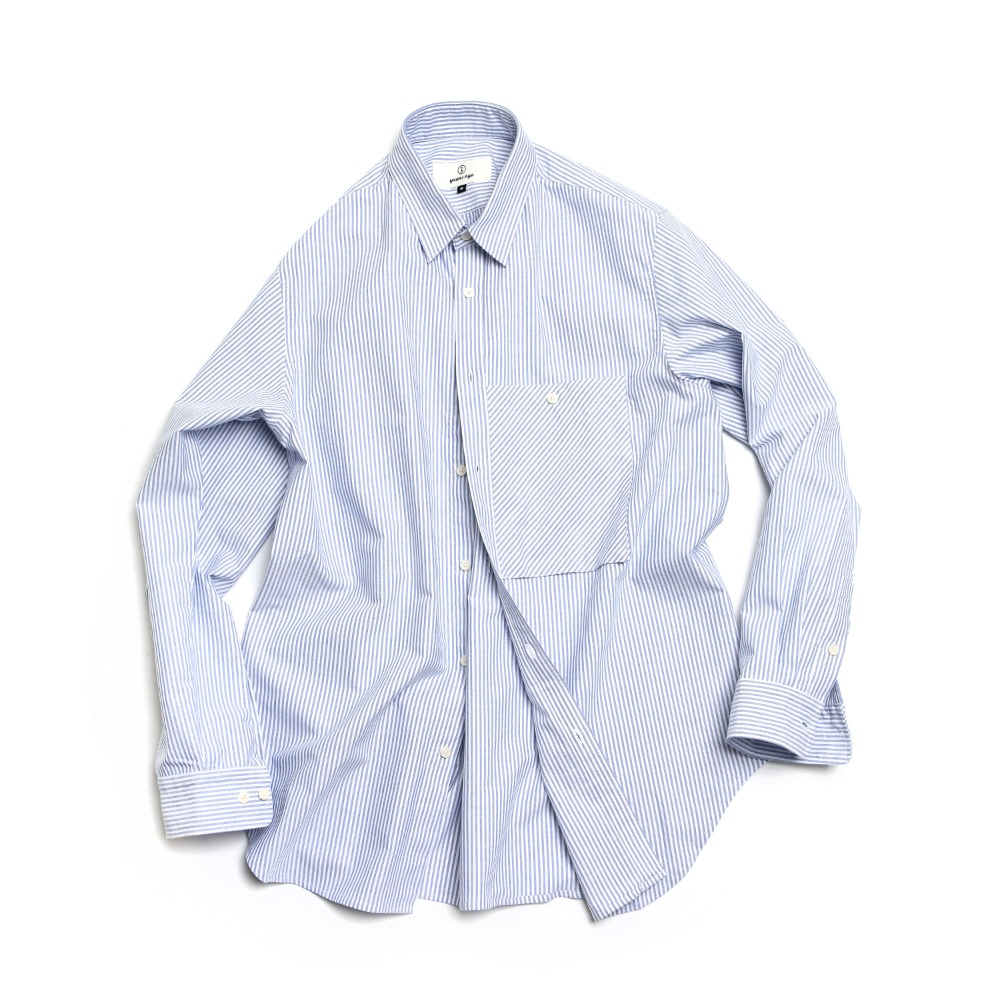 Stripe Big Pocket Oxford Shirts
