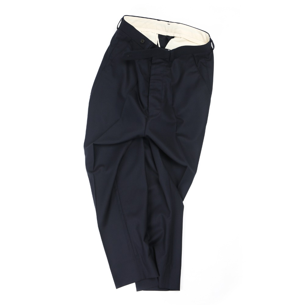 Dark Navy Cropped Taperd Pants