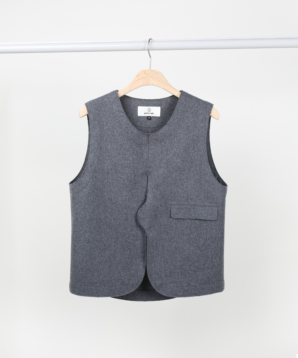 Melange Grey Adjustable Vest 01-2