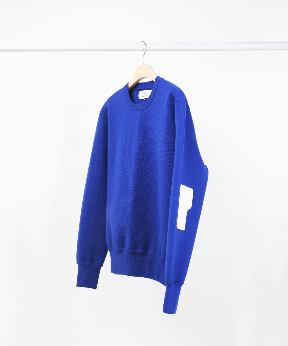 blue rover wool knit sweater