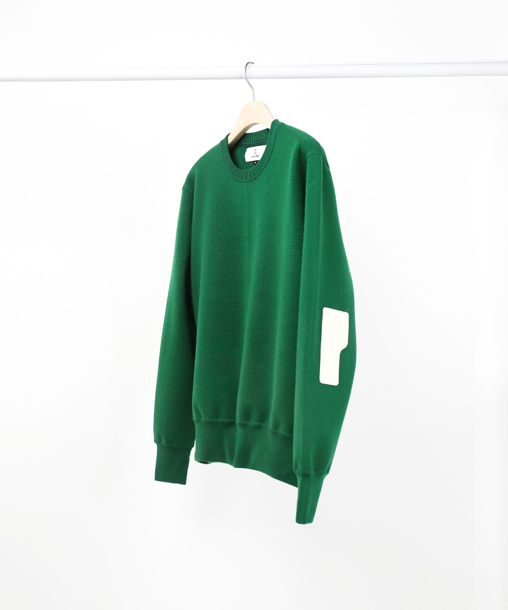deep green rover wool knit sweater