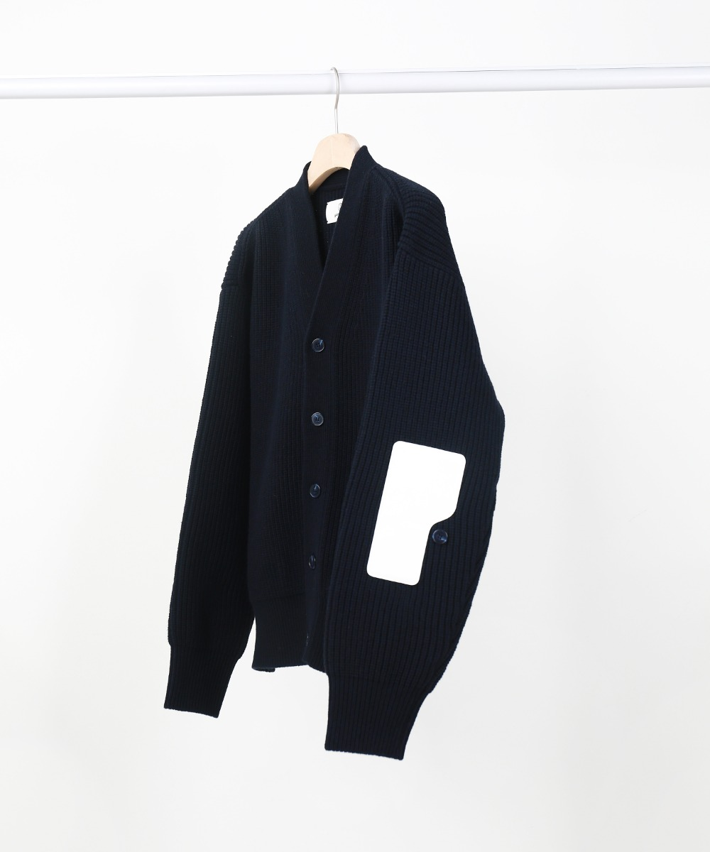 "2"" Dark Navy Rover Wool Cardigan 01-2"