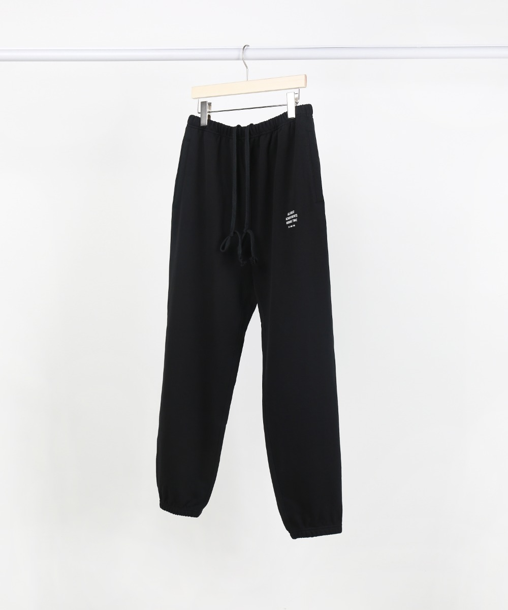 Black Slogan Piping Jogger Pants