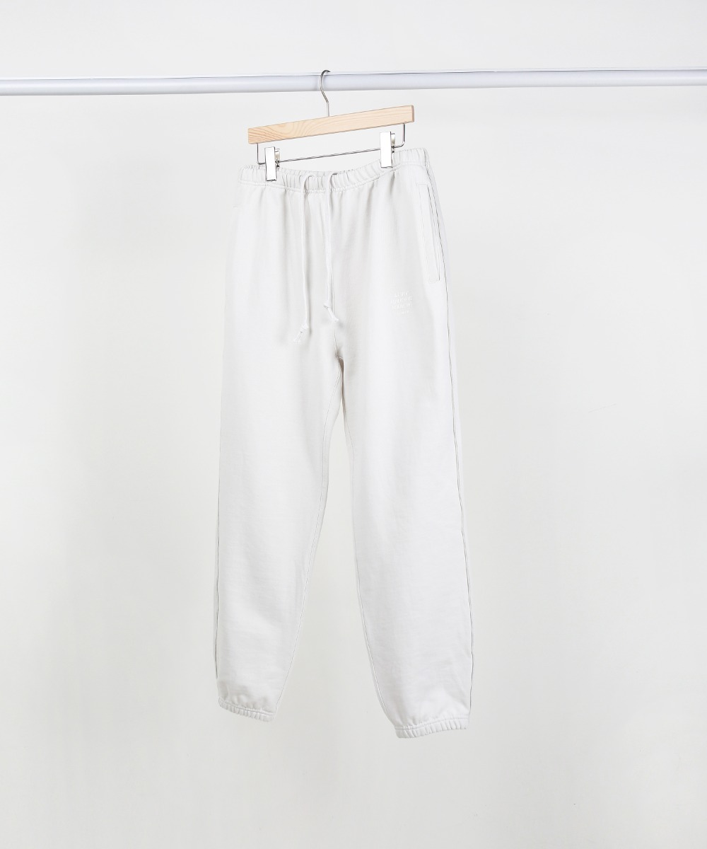 Light Grey Slogan Piping Jogger Pants