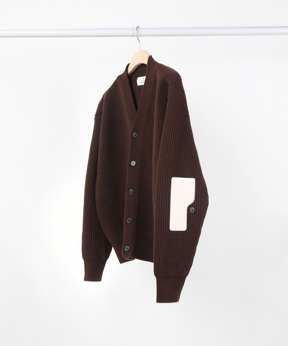 dark brown rover wool cardigan