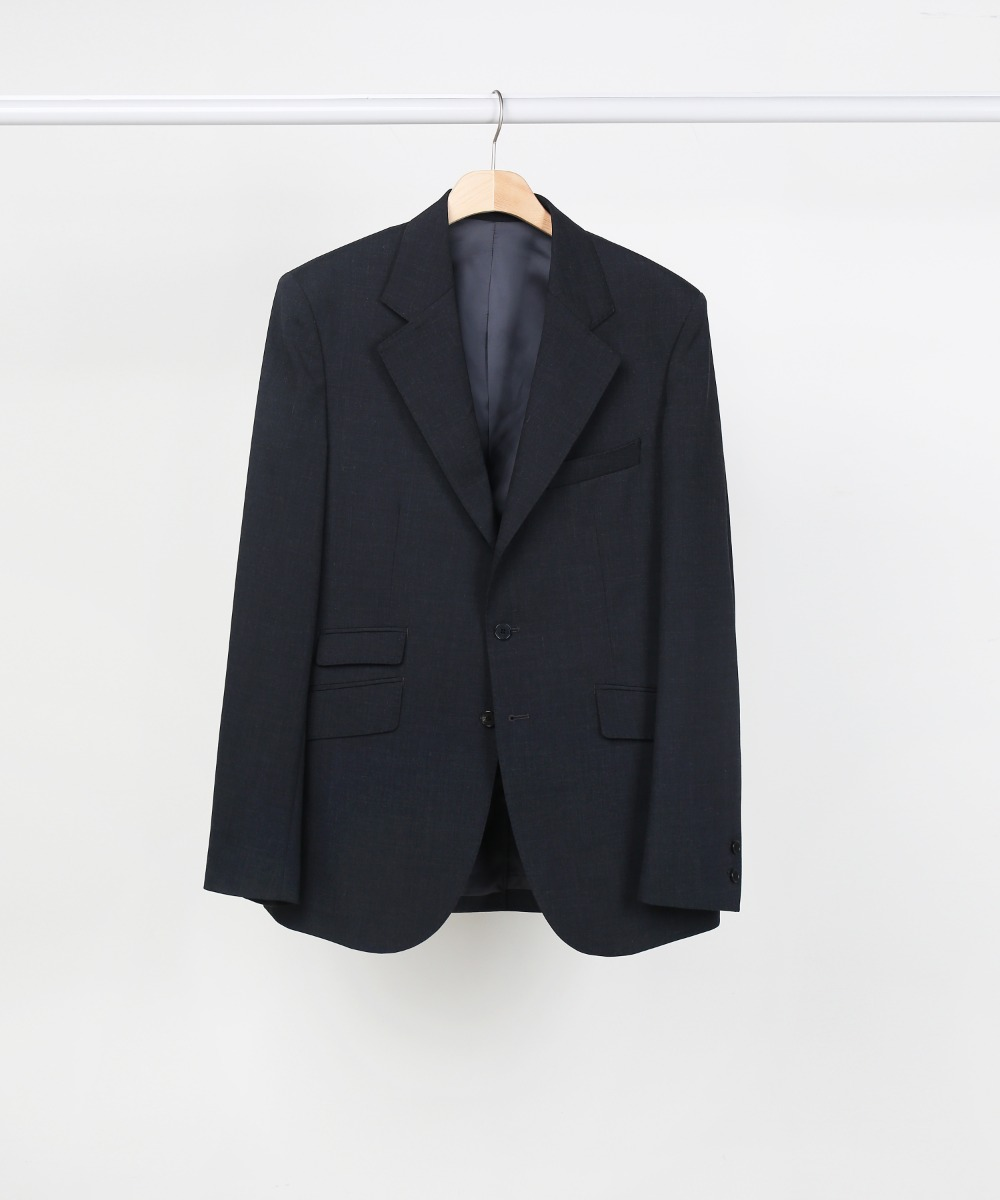 Charcoal 3roll 2button Tailored Blazer