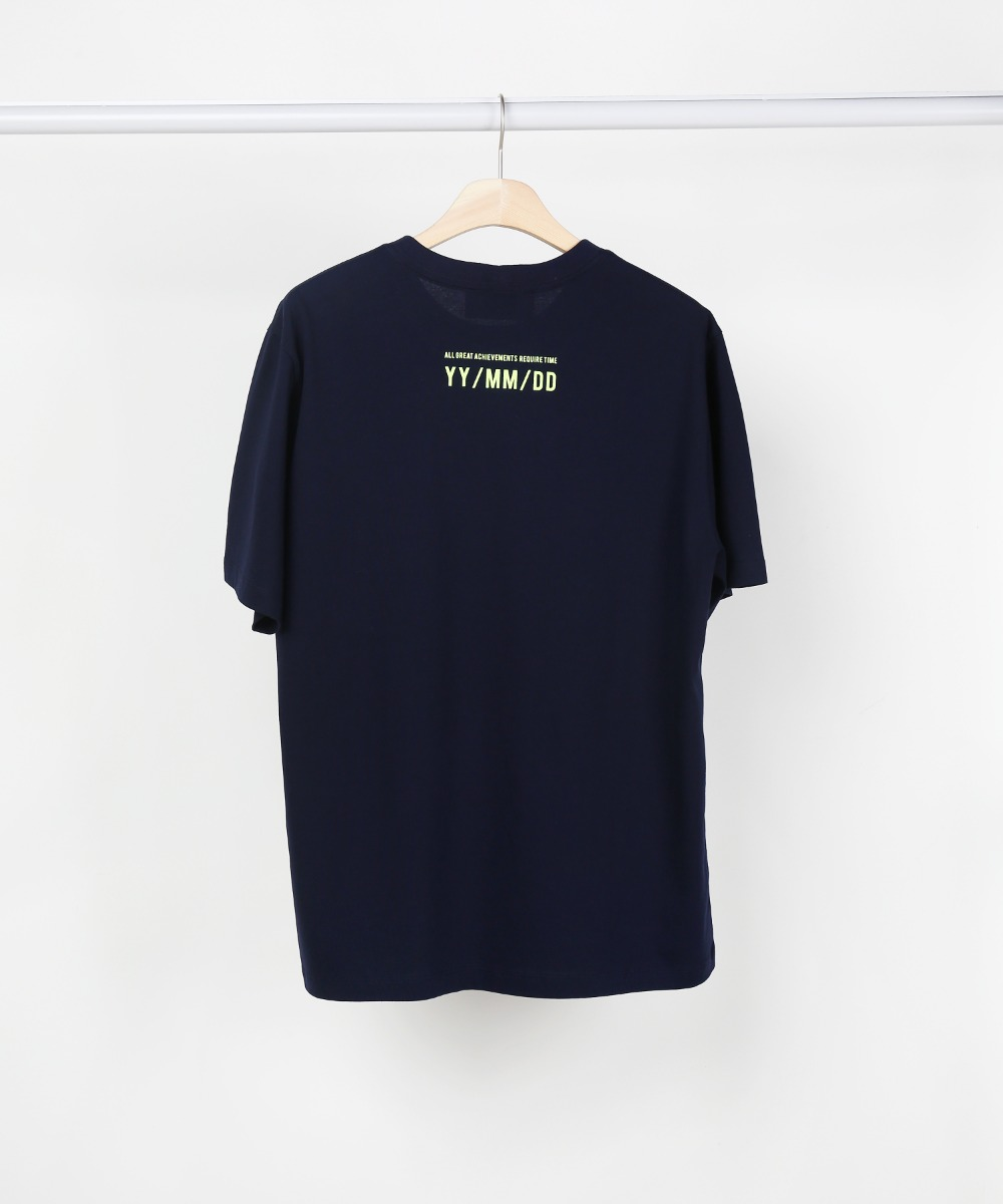 Navy Slogan T-shirts 02