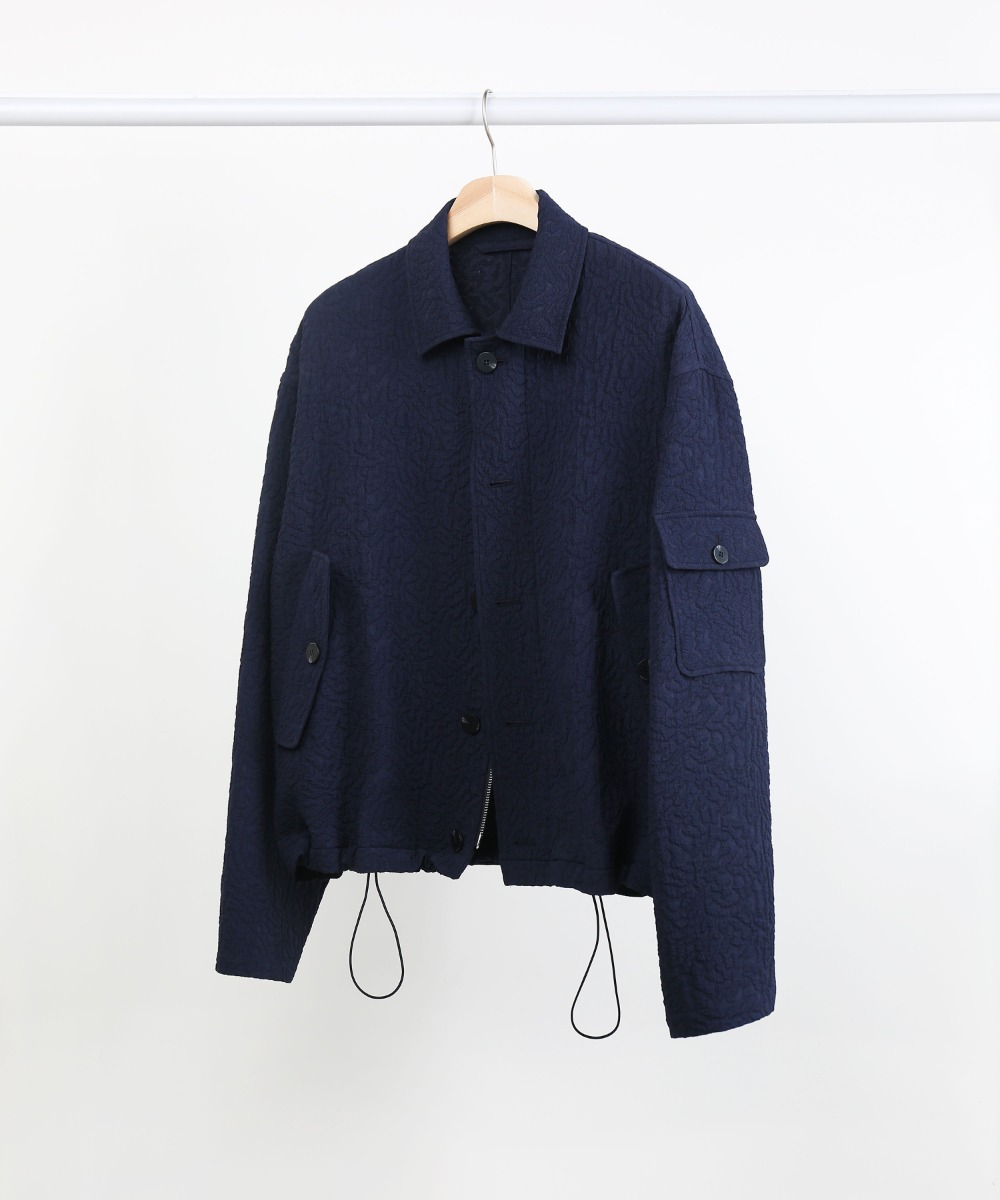 [DISTANCE] NAVY JACQUARD 3.P.C JUMPER.01 (SET-UP)
