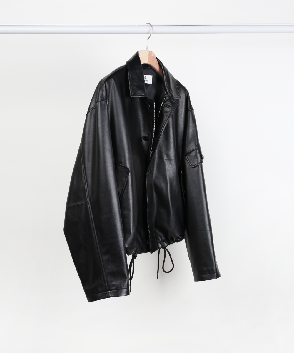BLACK LAMBSKIN LEATHER 3.P.C JUMPER.02