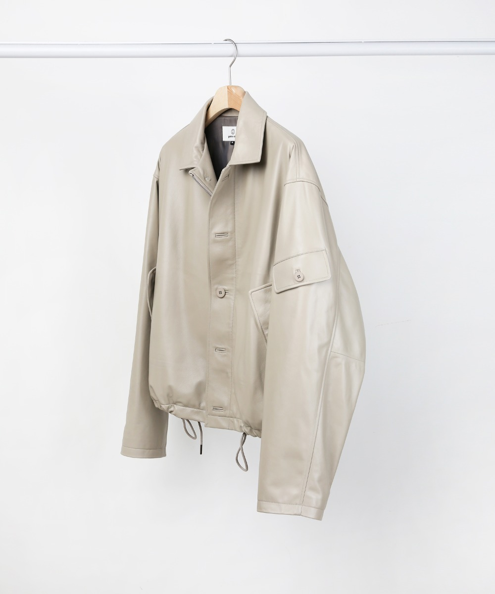 BEIGE LAMBSKIN LEATHER 3.P.C JUMPER.02