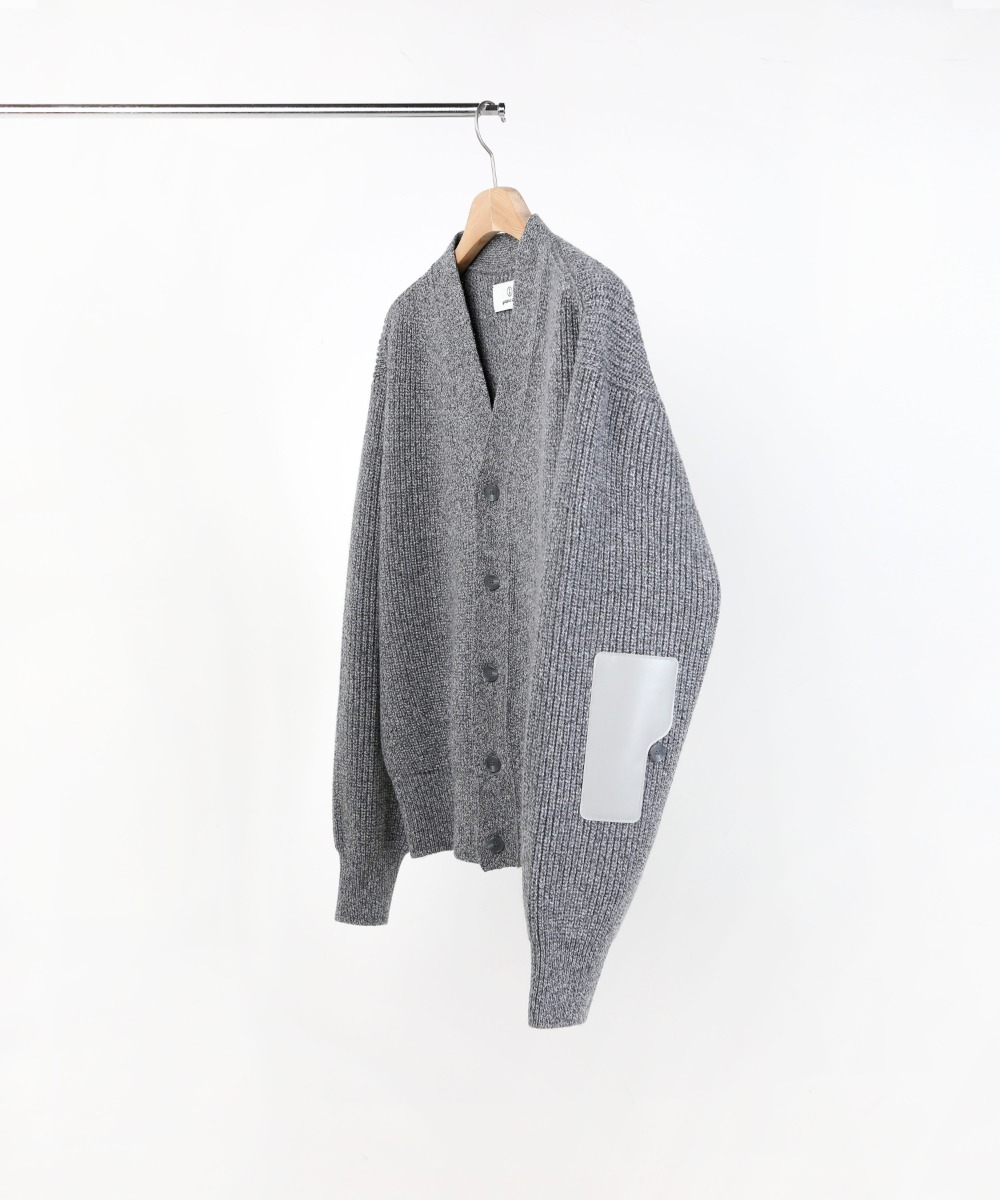 TWEED L.GREY ROVER WOOL CARDIGAN 01-2