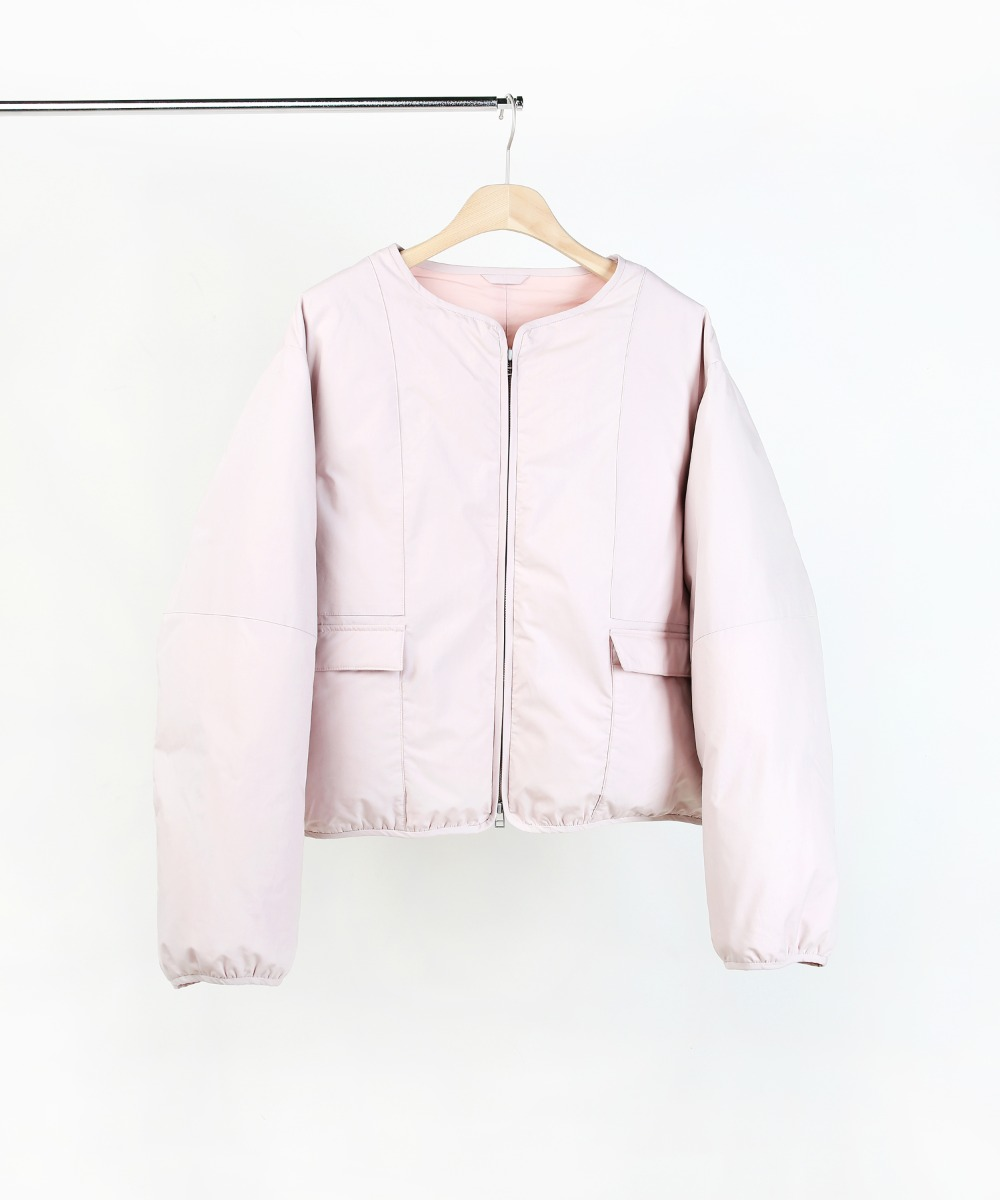 LIGHT PINK SHORT PUFFER DOWN JUMPER 01