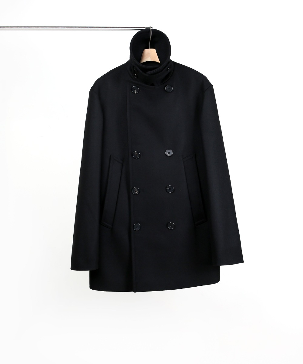 BLACK OVERSIZED PEA COAT 01