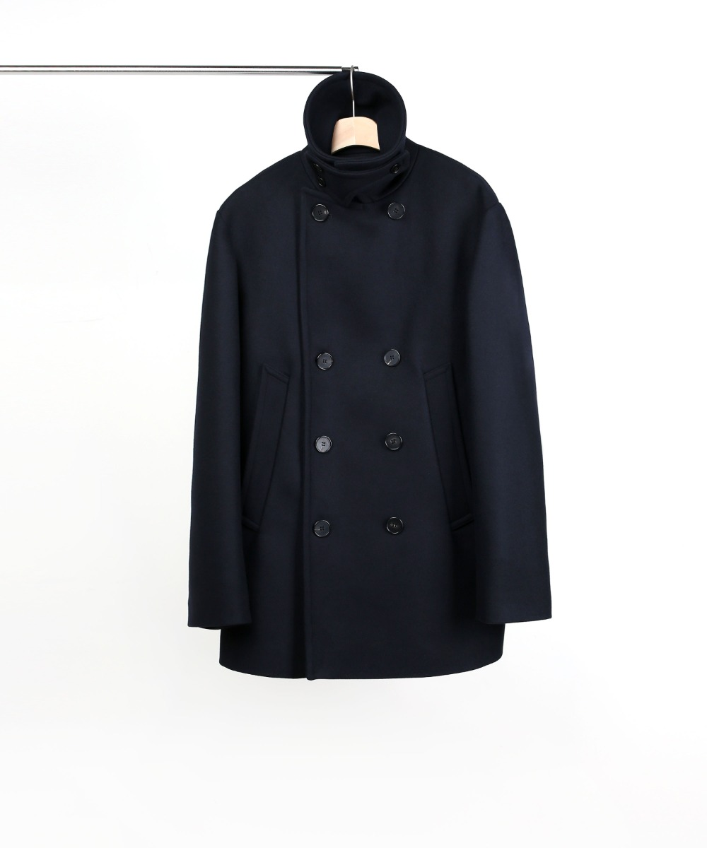 NAVY OVERSIZED PEA COAT 01