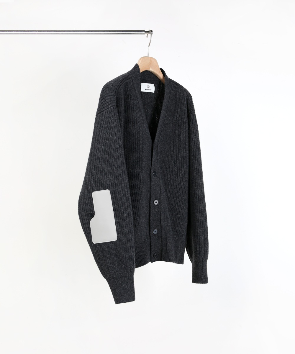 CHARCOAL ROVER WOOL CARDIGAN 01-2