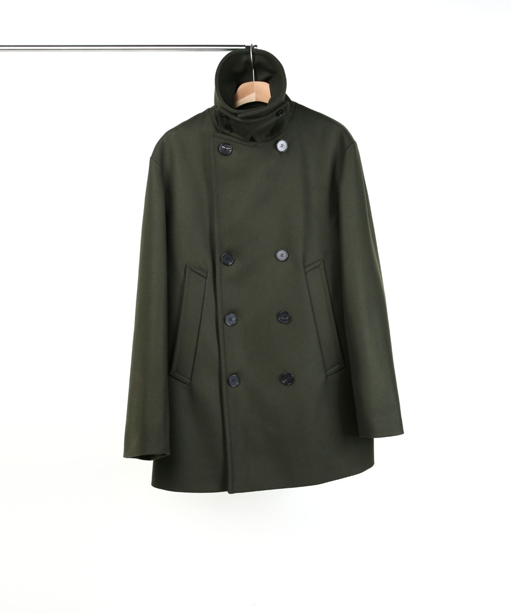 [X-MAS EDITION] OLIVE OVERSIZED PEA COAT 01